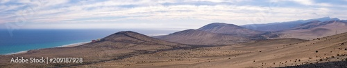 Recess Fitting Salmon Panorama of the mountain range in the Canary Islands Spain