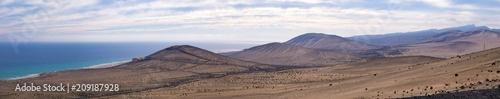 Aluminium Prints Salmon Panorama of the mountain range in the Canary Islands Spain