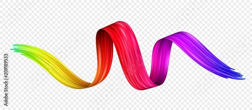 Color brushstroke oil or acrylic paint design element. Vector illustration