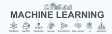 Machine Learning Banner Web Ic...