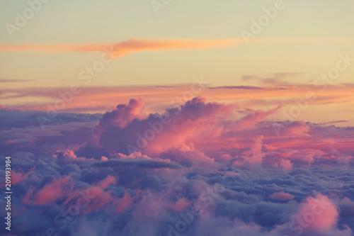 Printed kitchen splashbacks Beige Above clouds