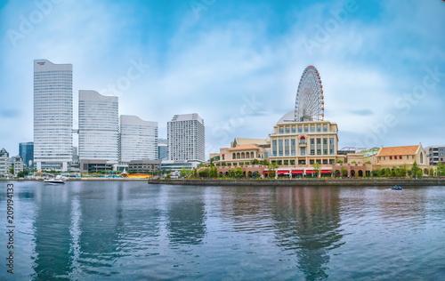 Fotobehang Japan Waterfront of Yokohama Minato Mirai in Yokohama City, Kanagawa Prefecture, Japan