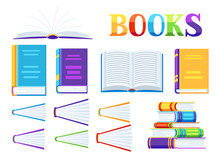 Set Of Book Icons.