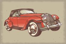 Old Fashion Car Illustration