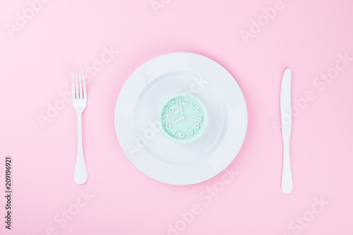 "Fotografie, Tablou  Concept minimal ""Time to Eat"""
