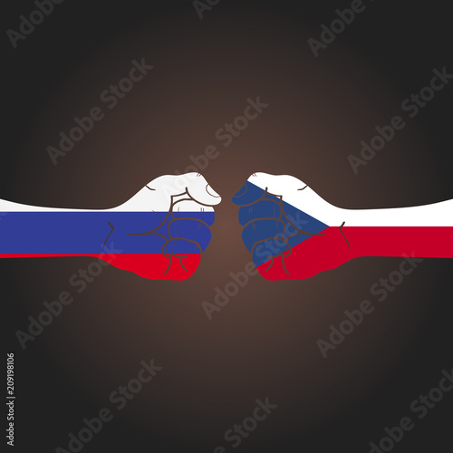 Conflict between countries: Russia vs Czech Republic Poster