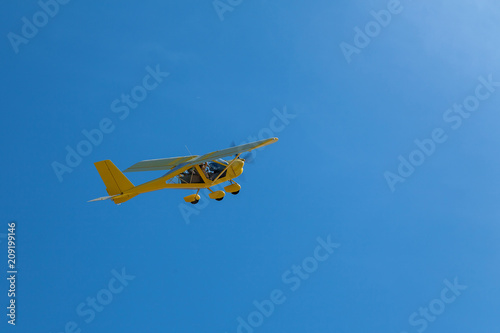 Tuinposter Helicopter Private light aircraft