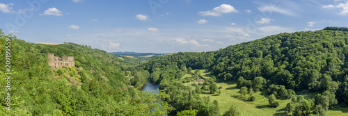 France, Auvergne, Allier, Sioule valley in Chouvigny