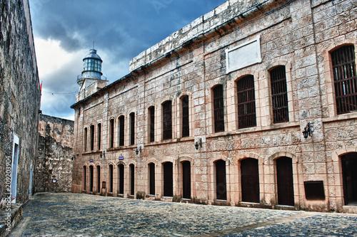 Foto op Canvas Oude gebouw view of building in morro castle in havana cuba
