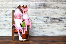Doll-toy Of A Pink Rabbit Girl...