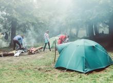 Tent Campers Fog