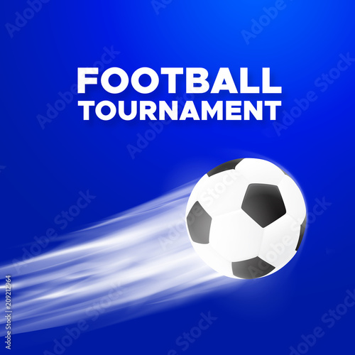 football sport poster design blue color vector background with