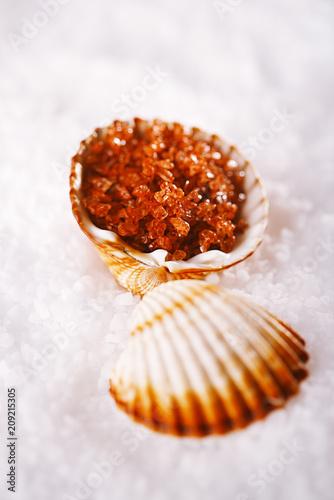 Fotobehang Aromatische Hawaiian Red Gold Salt