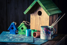 Wooden Bird Feeder And Blue Plan To Build It