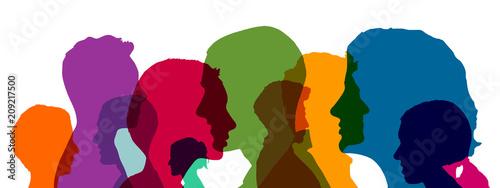 Obraz Gruppe Business Leute als Team Konzept - fototapety do salonu