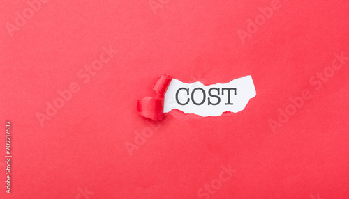 Fotografía  Hidden cost revealed from ripped piece of paper