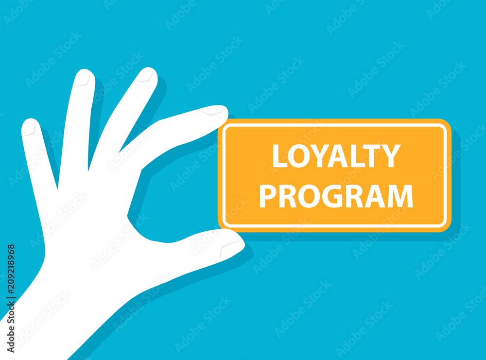 Fototapeta Hand holding loyalty program card