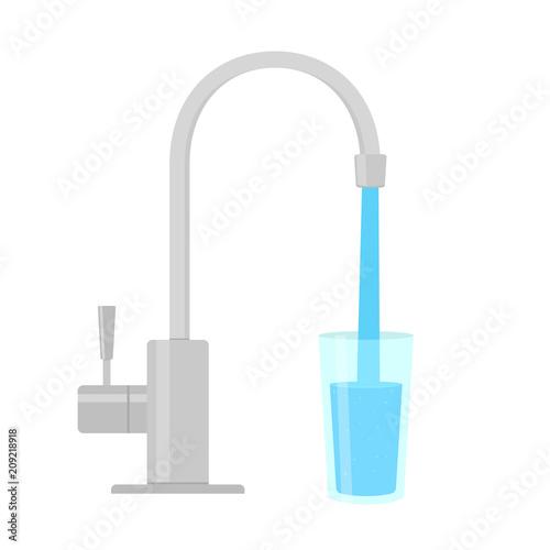 Fototapeta Faucet Water Filter