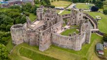 Aerial View Of Raglan Castle I...
