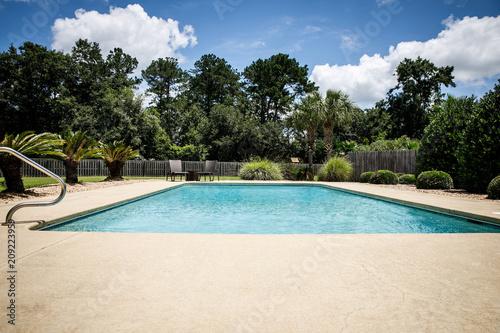 Fényképezés Residential Backyard Pool in the Suburbs