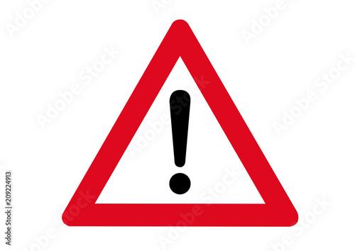 Schild Achtung Gefahr Fototapete