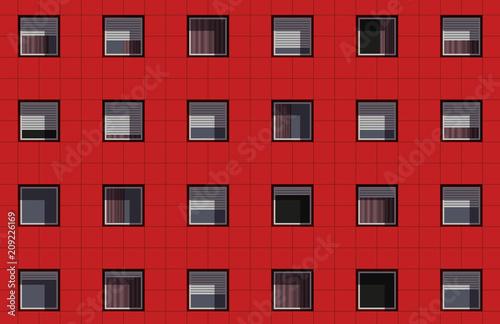 Tablou Canvas façade - immeuble - façade d'immeuble - logement - appartement - HLM - urbanisme