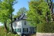 canvas print picture - Villa in Hamburg Blankenese