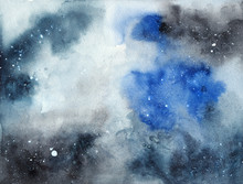 Abstract Watercolor Blue And G...