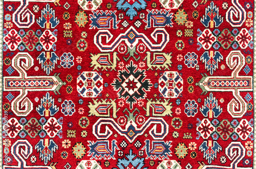 Fotografija  Oriental vintage handmade woolen carpet background