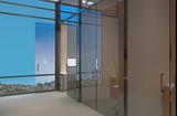 Modern meeting room. 3D rendering.