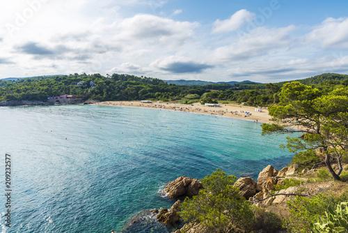 Castell beach, Costa Brava, Girona, Catalonia, Spain