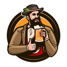 Beer, Brewery, Pub Logo Or Lab...