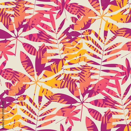 chlodno-zywy-jasny-kolor-tropikalny-wzor-lisci