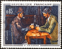 Painting By Cezanne On French Postage Stamp