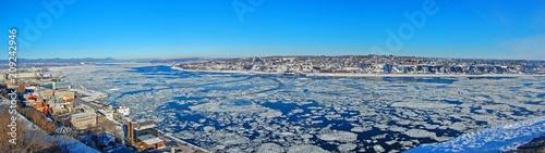 Levis City skyline panorama in winter Tableau sur Toile