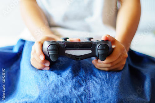 game controller and hands Wallpaper Mural
