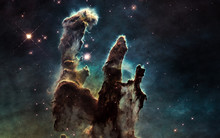 Pillars Of Creation. Deep Spac...