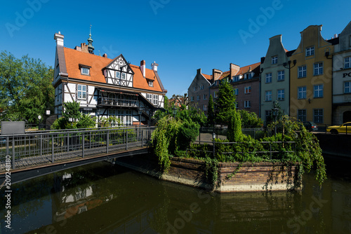 obraz lub plakat Old Miller`s house and other Historycal architecture in Gdansk, Poland.