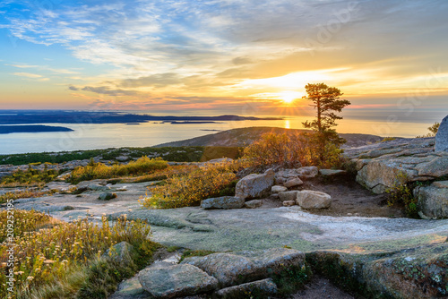 Canvas Print Sunrise at Cadillac Mountain
