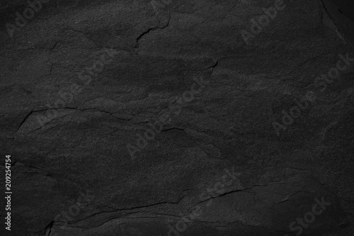 Stickers pour portes Cailloux Dark grey black slate background or texture.