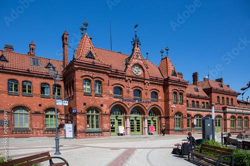 Photo Stands Train Station Polen, Bahnhof Malbork