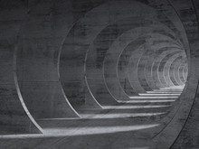 Concrete Tunnel Interior With ...