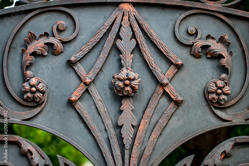 The fragment of forged metal products. close-up Canvas Print