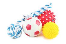 Pet Toys Isolated On White Bac...