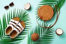 Round Rattan Bag, Coconut, Bir...