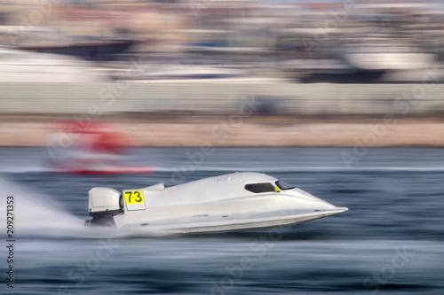 Fotografie, Obraz fast powerboat racing