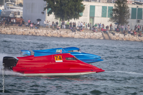 Poster Nautique motorise fast powerboat racing