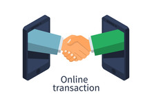 Online Transaction Concept. Ha...