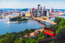 Pittsburgh,pennsylvania,usa. 2017-08-20, Beautiful Pittsburgh At Twilight.