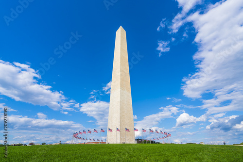 Fotografie, Obraz  washington dc,Washington monument on sunny day with blue sky background